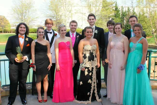 The Girl on the Left Looks Lik... is listed (or ranked) 4 on the list People Who Brought Inanimate Objects as Their Prom Dates