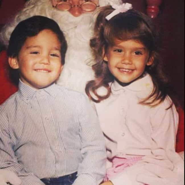 Young Jessica Alba with Santa ... is listed (or ranked) 1 on the list 18 Pictures of Young Jessica Alba