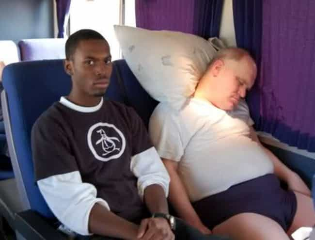 A Nice Sleep is listed (or ranked) 4 on the list Awkward Public Transportation Pictures