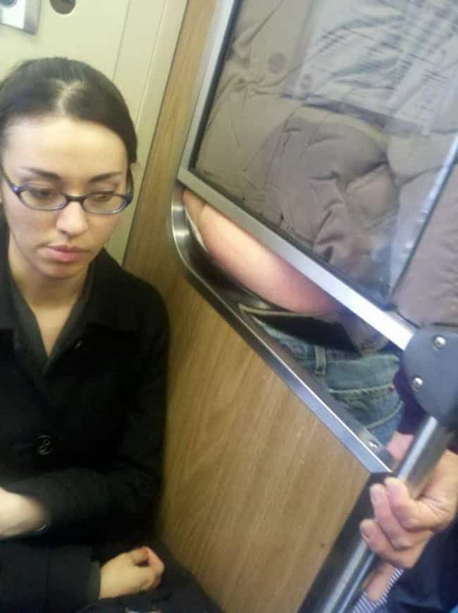 Intruder Alert! is listed (or ranked) 1 on the list Awkward Public Transportation Pictures