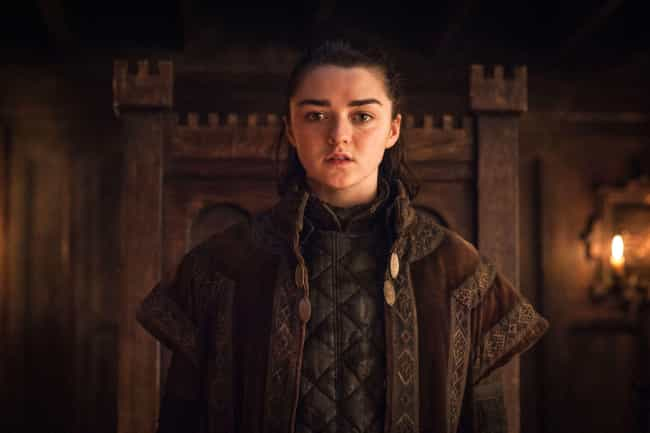 Arya is listed (or ranked) 1 on the list 22 Names from Game of Thrones That Are Gaining in Popularity