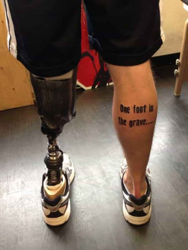 A Little Humor Got Him B... is listed (or ranked) 1 on the list Incredibly Clever Pun Tattoos