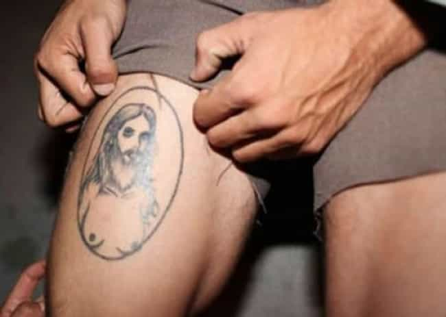 Miraculous Moob Jesus is listed (or ranked) 2 on the list 35 Bible Tattoo FAILs That You Won't Believe!