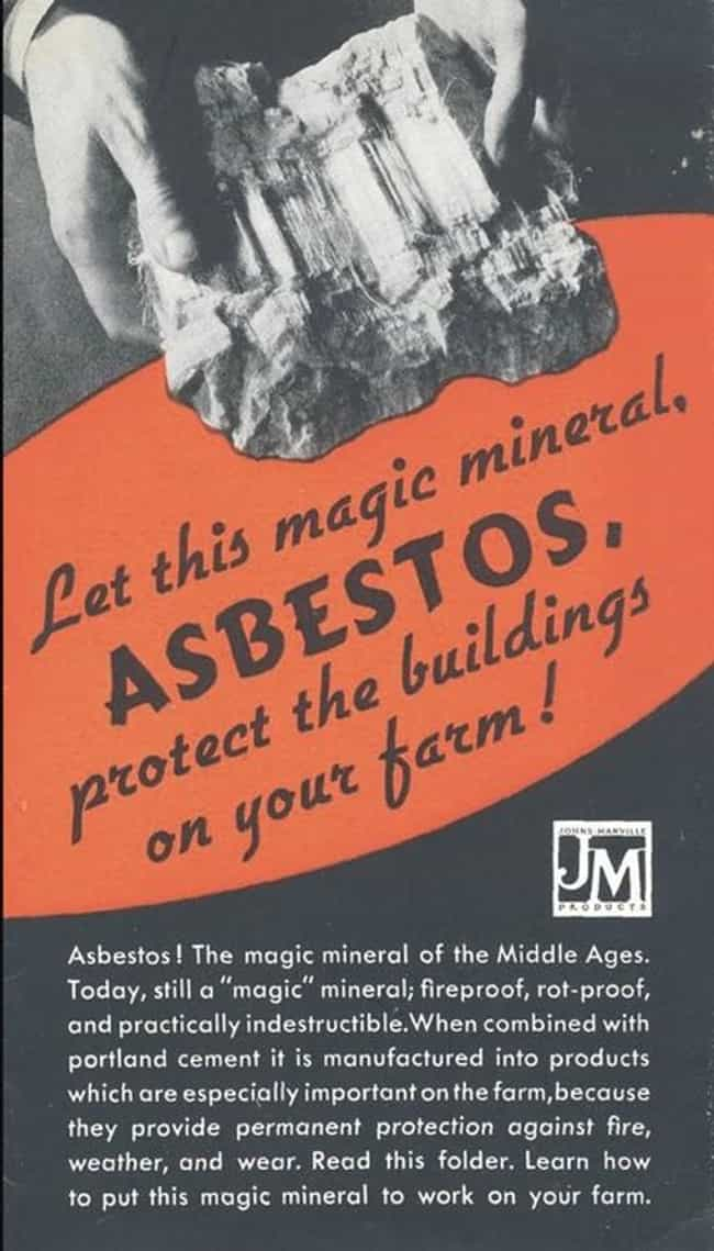 Everyone Loves Asbestos!... is listed (or ranked) 2 on the list Vintage Health Ads That Actually Give Horrible Advice
