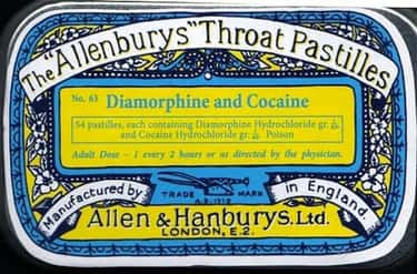 Is Cocaine Pastille an Elton J is listed (or ranked) 2 on the list Vintage Ads That Promoted Now-Illegal Drugs