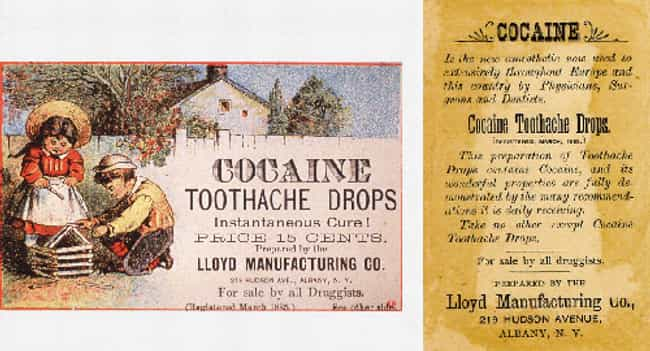 Kids Love Cocaine Toothache Dr... is listed (or ranked) 1 on the list Vintage Ads That Promoted Now-Illegal Drugs
