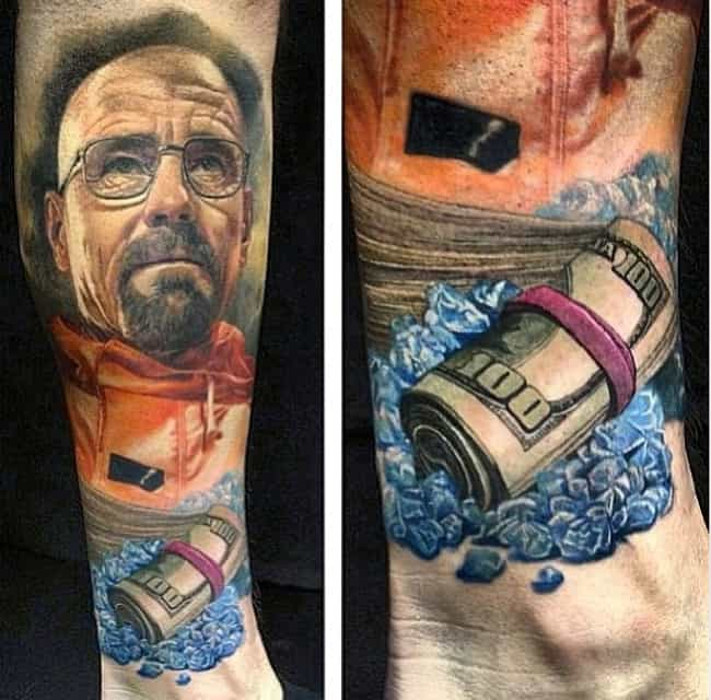 "This Ultra-Detailed ""Break... is listed (or ranked) 1 on the list The Best-Ever Breaking Bad Tattoos, Ranked"