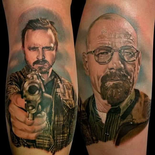 Pick Your Poison - Jesse or Wa... is listed (or ranked) 3 on the list The Best-Ever Breaking Bad Tattoos, Ranked