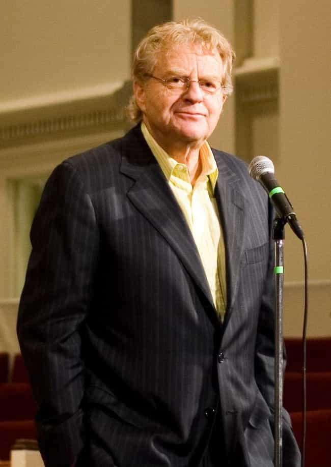 Jerry Springer (Now) is listed (or ranked) 2 on the list '90s Talk Show Hosts: Then and Now