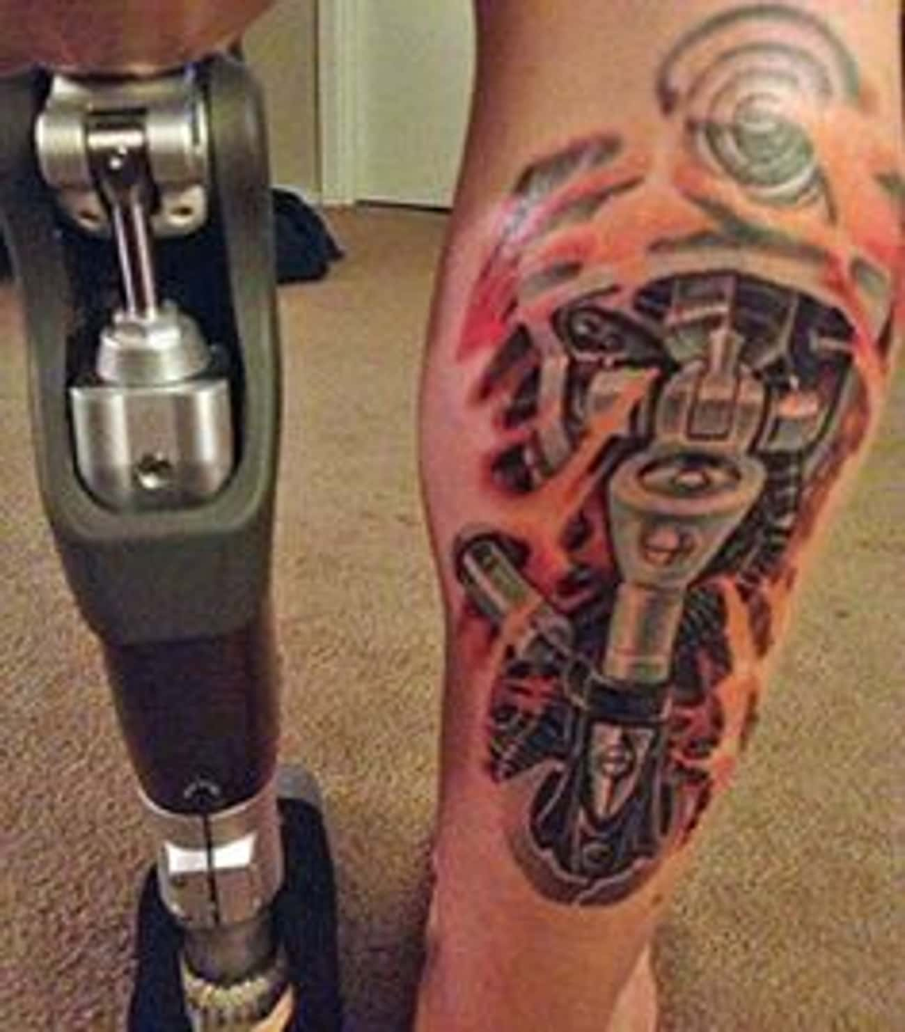 The Terminator is listed (or ranked) 4 on the list The Most Awesome Amputation Tattoos of All Time