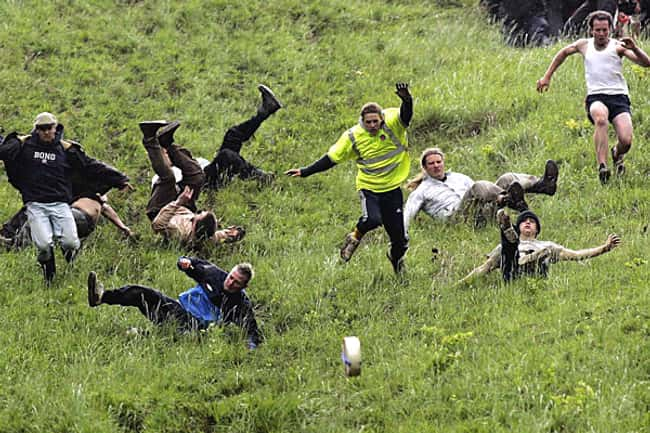 Cheese Rolling is listed (or ranked) 11 on the list The Weirdest Sports from Around the World