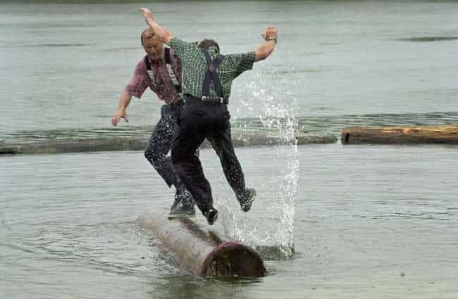Logrolling is listed (or ranked) 16 on the list The Weirdest Sports from Around the World