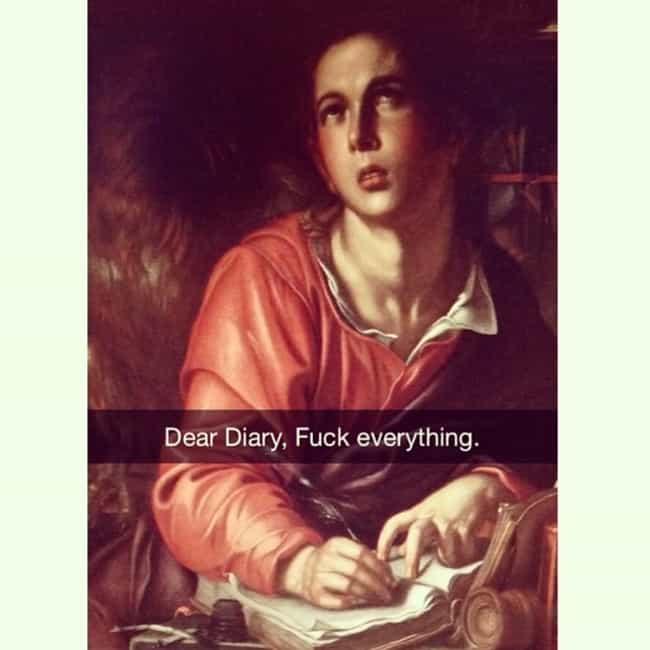 Emo Before Emo Was In is listed (or ranked) 4 on the list 50 Art History Snapchats You Need in Your Life Right Now