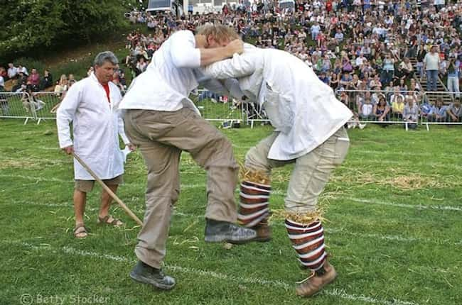 Shin-Kicking is listed (or ranked) 6 on the list The Weirdest Sports from Around the World