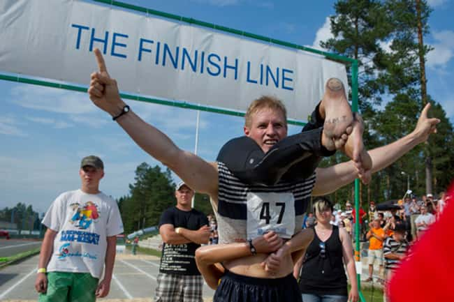 Wife Carrying is listed (or ranked) 8 on the list The Weirdest Sports from Around the World