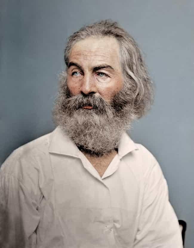 Poet Walt Whitman in 1868