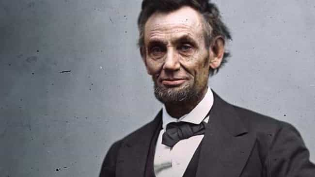 President Lincoln is listed (or ranked) 1 on the list The Most Amazing Colorized Black and White Photos