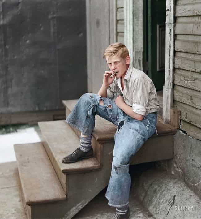Young Man in the Baltimore Slums, 1938
