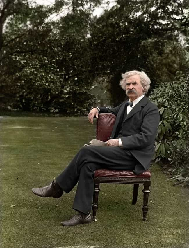 Literary Legend, Mark Twain is listed (or ranked) 5 on the list The Most Amazing Colorized Black and White Photos