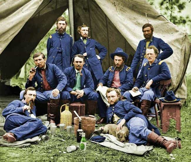 Union Soldiers, 1863 is listed (or ranked) 2 on the list The Most Amazing Colorized Black and White Photos