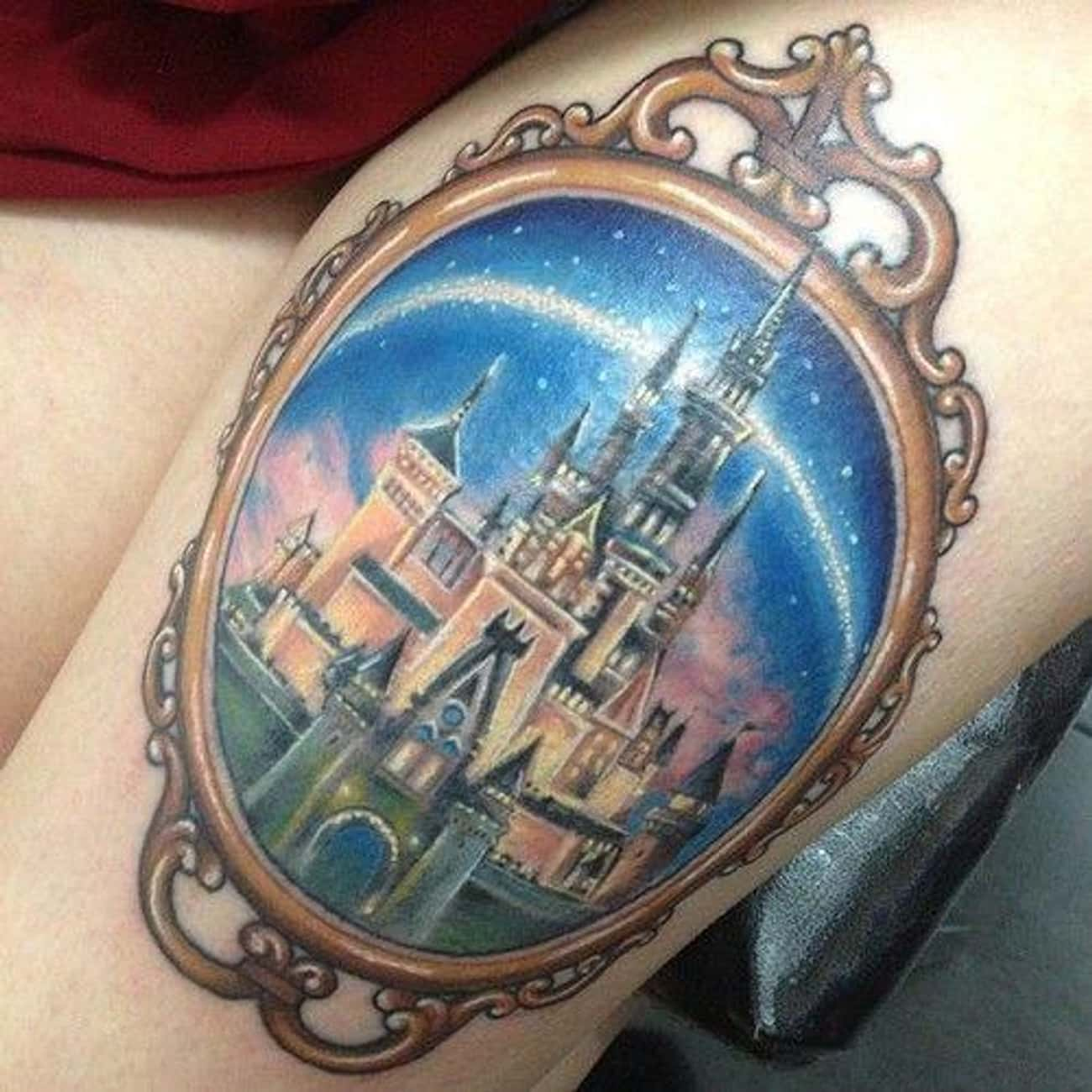 Sleeping Beauty's Castle Has N is listed (or ranked) 3 on the list The Coolest Disney Tattoos