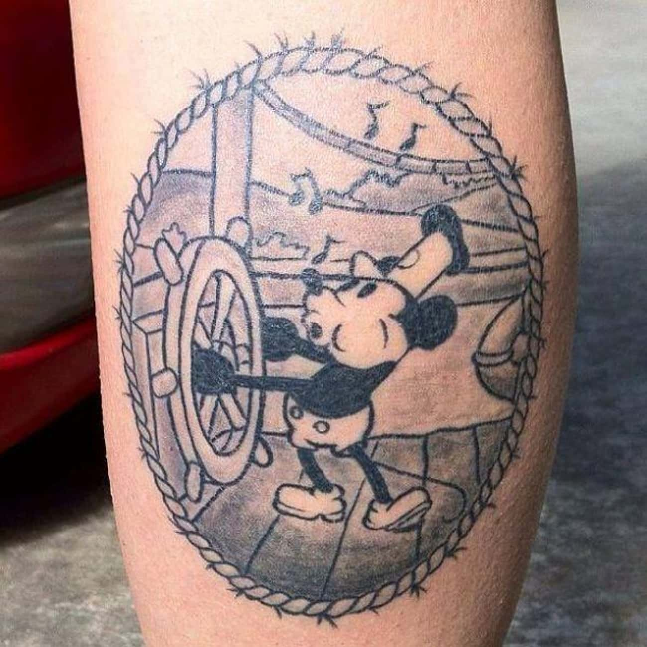 Steamboat Mickey Looks Great I is listed (or ranked) 4 on the list The Coolest Disney Tattoos
