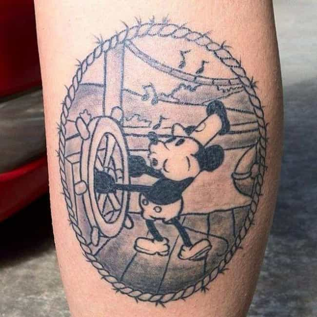 Steamboat Mickey Looks Great i... is listed (or ranked) 4 on the list The Coolest Disney Tattoos