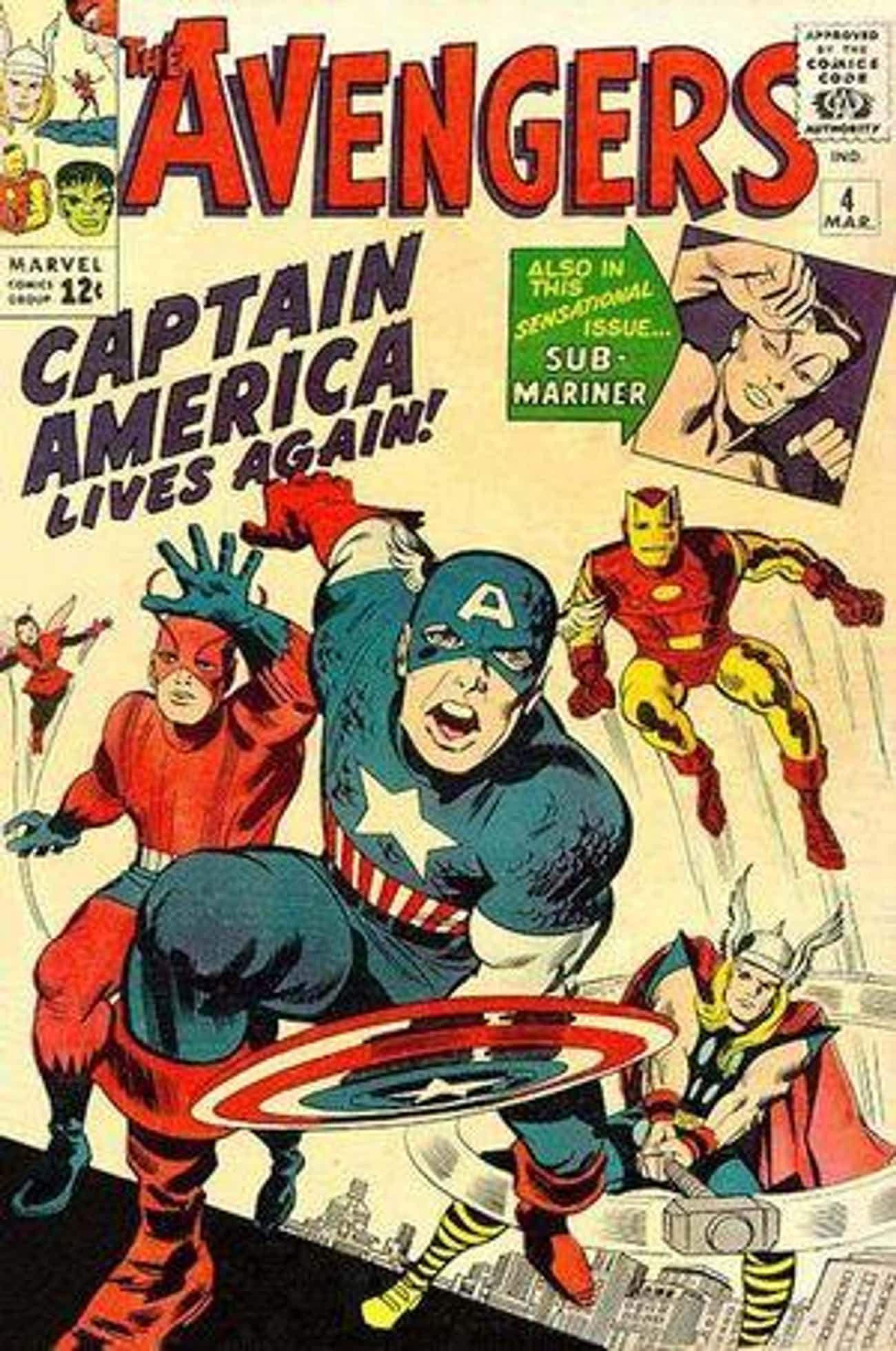Captain America Joins... The A is listed (or ranked) 4 on the list The Best Avengers Comic Storylines, Ranked