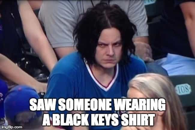 Jack White's Angry Face is listed (or ranked) 4 on the list 25 Memes That Need to Die