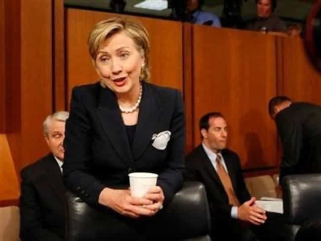 """""""I Asked for Decaf ... is listed (or ranked) 6 on the list The Greatest Faces Hillary Clinton Has Ever Made"""