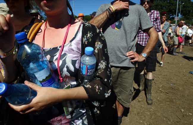 Water Costs Roughly $75 is listed (or ranked) 3 on the list The Absolute Worst Music Festival Cliches