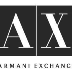 Armani Exchange is listed (or ranked) 22 on the list 300+ Major Clothing Companies and Brands