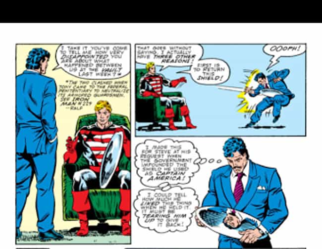 That Time He Gave His Sh... is listed (or ranked) 2 on the list 11 Times Captain America Was a D*ck in Comics