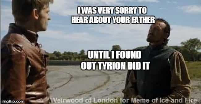 Tyrion Gets a Free Pass is listed (or ranked) 4 on the list 20 Best Game of Thrones Memes