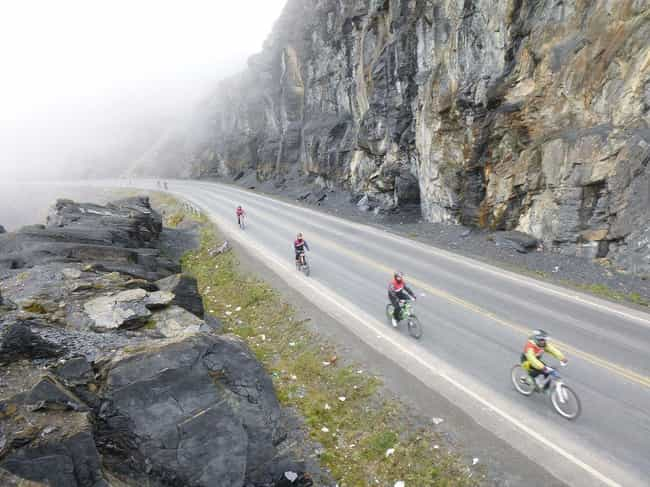 Yungas Road, Bolivia is listed (or ranked) 3 on the list The Most Dangerous Roads in the World