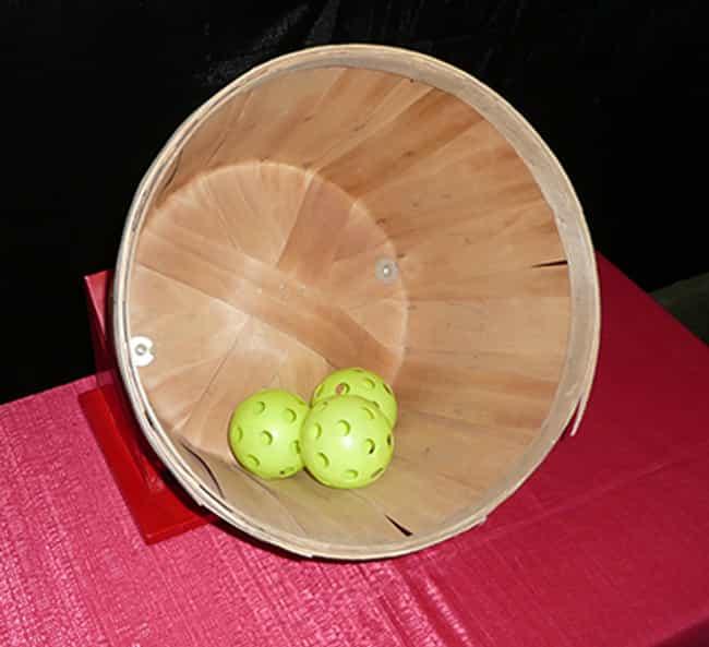 Use Gentle Backspin For The Basket Toss