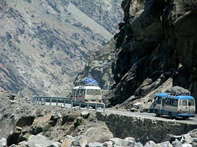 Karakoram Highway is listed (or ranked) 1 on the list The Most Dangerous Roads in the World