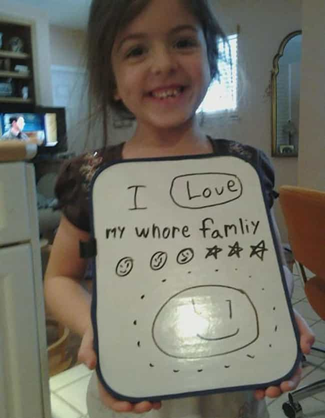 Family Is Love! is listed (or ranked) 4 on the list 20 Unintentionally Hilarious Kids' Drawings