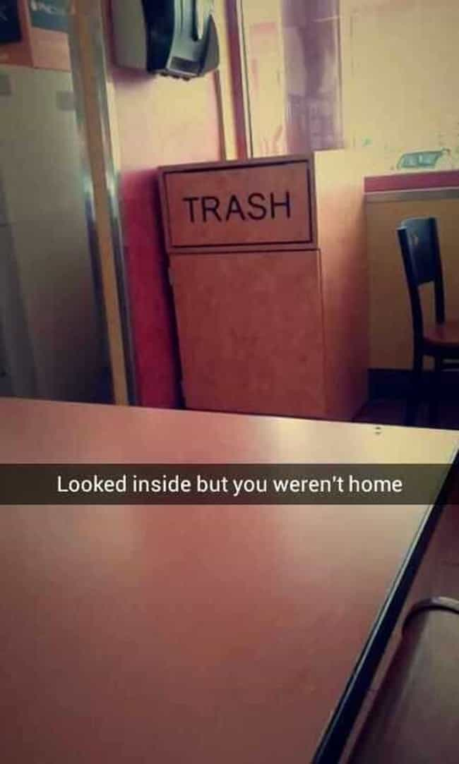 Take out the Trash is listed (or ranked) 3 on the list 24 Epic Snapchat Insults