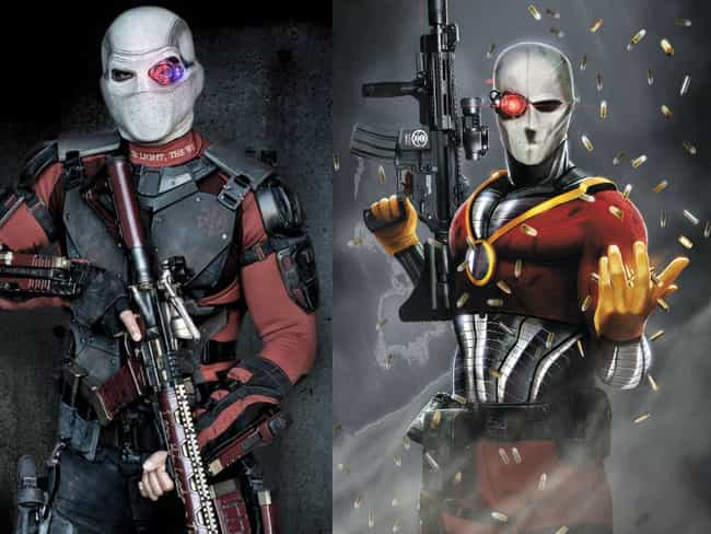 Deadshot is listed (or ranked) 3 on the list The Most Important Facts About Every Suicide Squad Character
