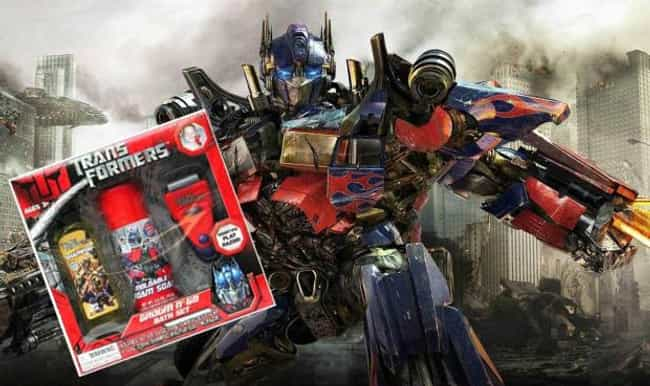 Transformers Play Shave Set is listed (or ranked) 3 on the list The 17 Least Appropriate Comic Book Movie Brand Tie-ins Ever