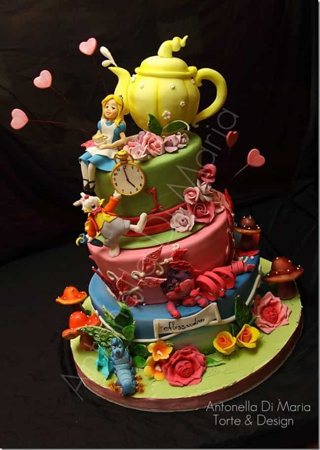 Alice in Wonderland Cake... is listed (or ranked) 4 on the list 40 of the Internet's Most Insane Cakes