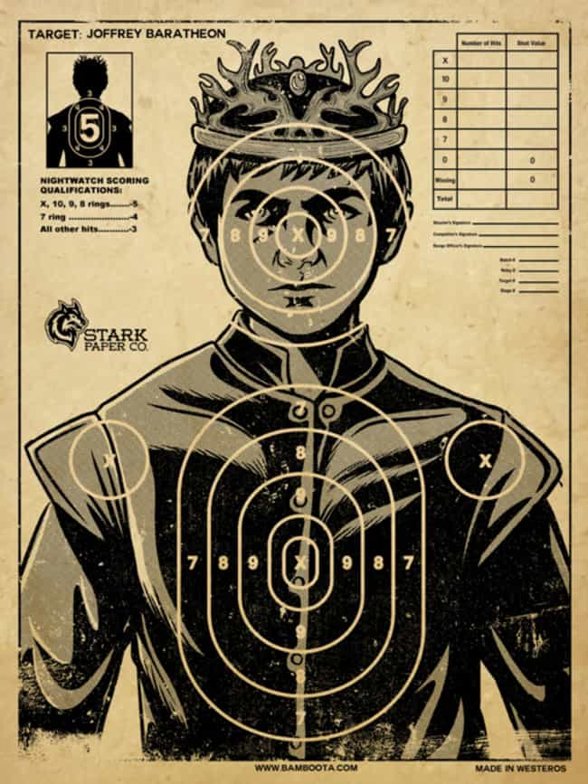 Play Darts with King Jof... is listed (or ranked) 1 on the list Epic Ideas for Your Next Game of Thrones Party
