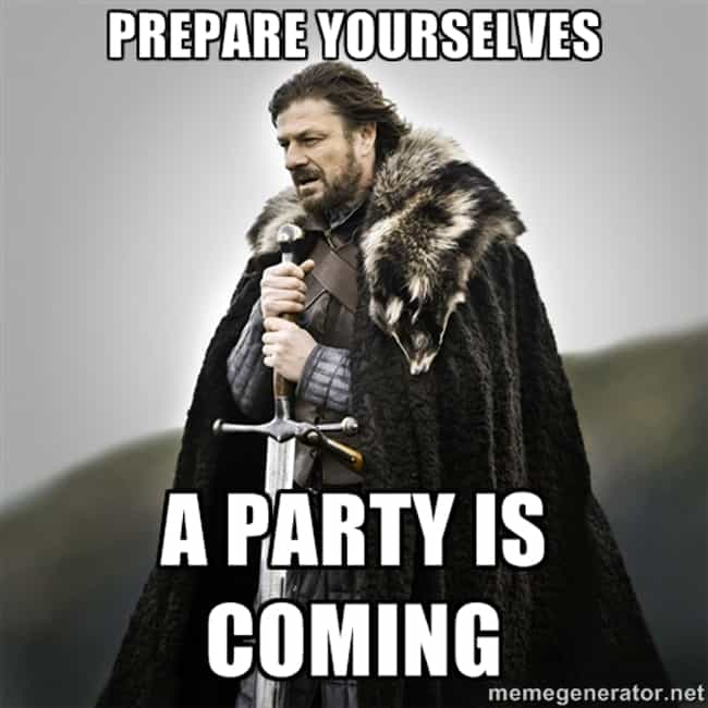 Send Awesome GoT Evites ... is listed (or ranked) 2 on the list Epic Ideas for Your Next Game of Thrones Party