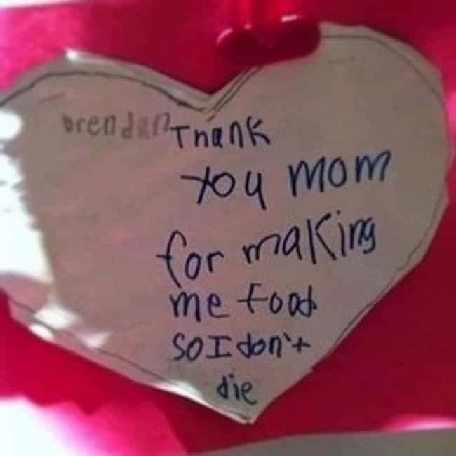 """The """"It's the Littl... is listed (or ranked) 1 on the list The Best Accidentally Funny Mother's Day Cards"""