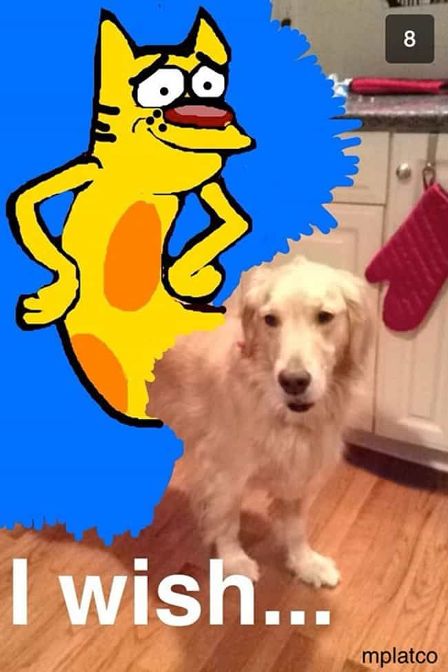 Half-Real Half-Cartoon, ... is listed (or ranked) 4 on the list Funny Snapchat Drawings That Put Your Art Skills to Shame