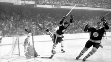 Bobby Orr Wins the Stanley Cup is listed (or ranked) 1 on the list The Most Important Hockey Goals of All Time