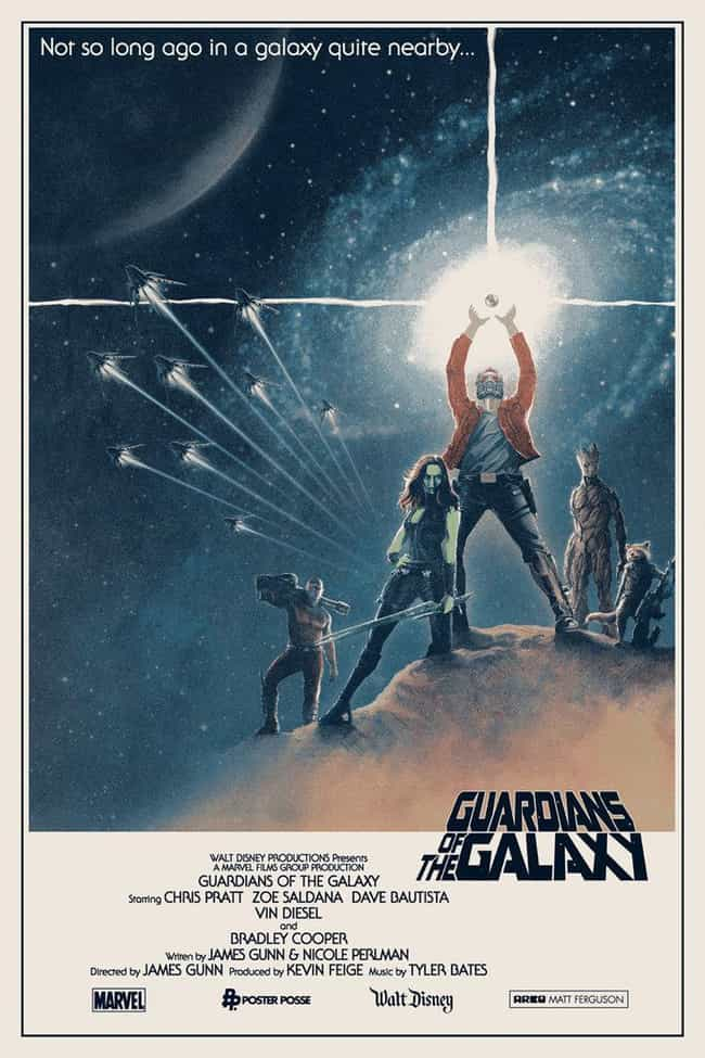 Guardians / Star Wars Mashup is listed (or ranked) 4 on the list Fan Made Superhero Poster That Are Better Than The Real Ones