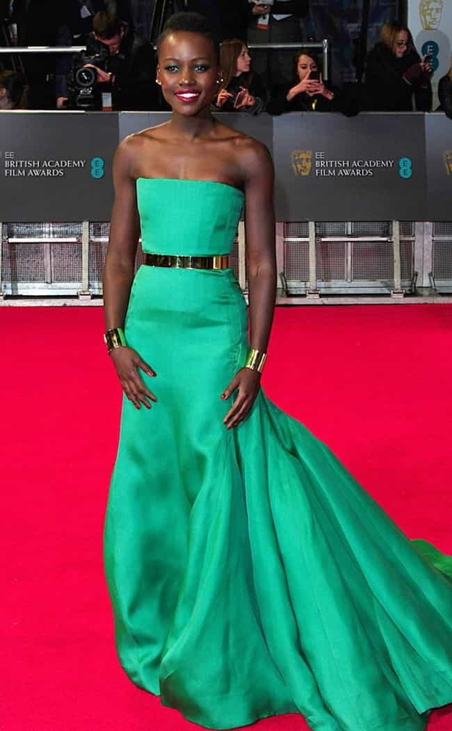 Emerald Green Goddess is listed (or ranked) 3 on the list Lupita Nyong'o's Best Looks in Every Color of the Rainbow