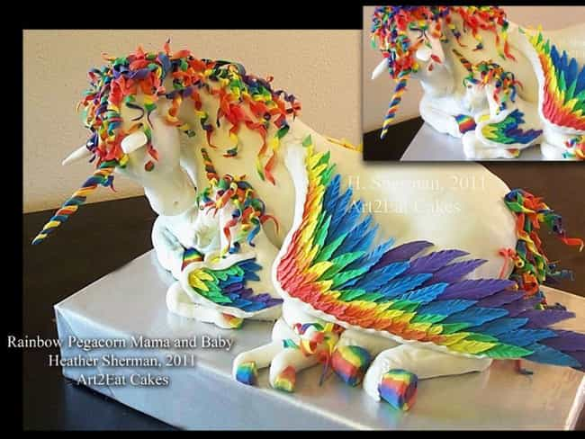 Unicorn Cake is listed (or ranked) 3 on the list 40 of the Internet's Most Insane Cakes